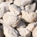 Weißer Eifelquarz Zierkies